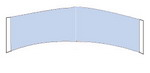 Lace Front Support Blue Liner Hairpiece Tape (Contour C)