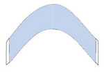 Lace Front Support Blue Liner Hairpiece Tape (Contour AA)