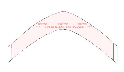 "5"" Super Wide A Contour Duo-Tac Hairpiece Tape"